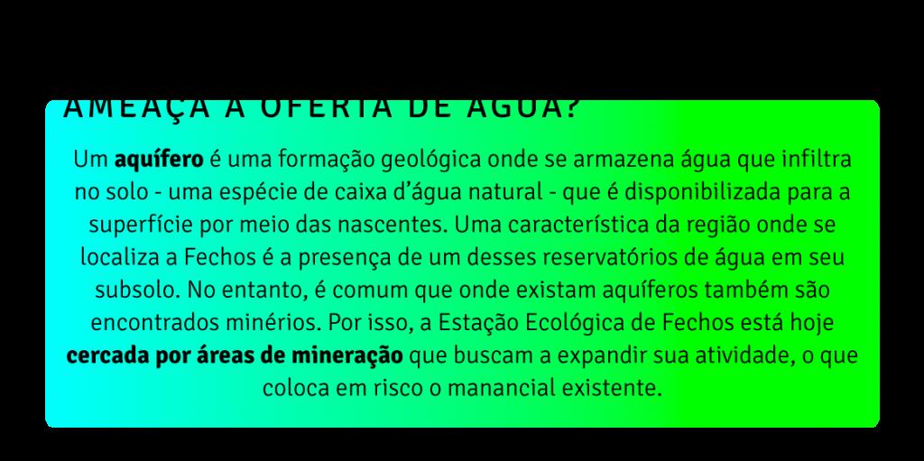 Mineração e água